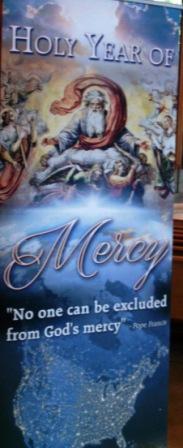 Year of Mercy Banner at St. Juan Diego Parish photo (c) John M. Kingery 2016